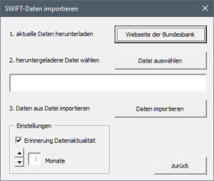 SWIFT Daten Import